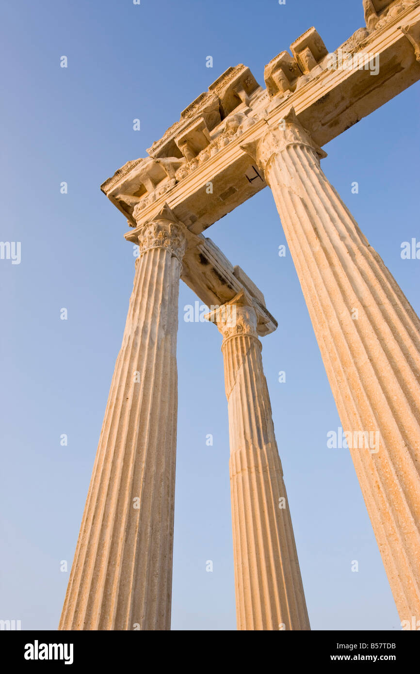 Ruinas romanas del Templo de Apolo, Lateral, Provincia Anatalya, Anatolia, Turquía, Asia Menor, Eurasia Foto de stock