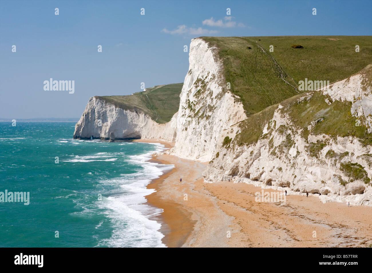 Cabeza Swyre y Bat en la cabeza, Dorset, Inglaterra, Reino Unido, Europa Foto de stock
