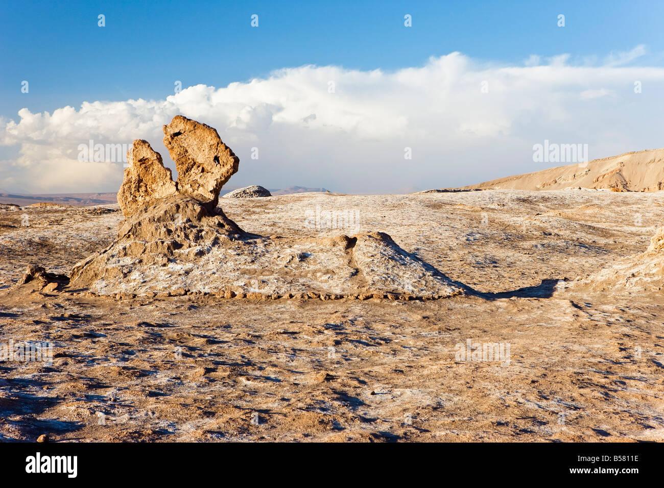 Pináculos de roca erosionada, Valle de la Luna (Valle de la luna), el desierto de Atacama, Norte Grande de Imagen De Stock