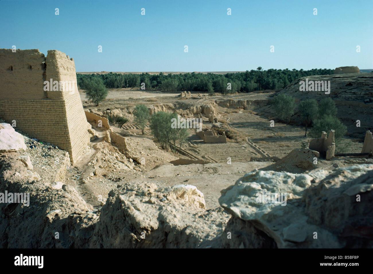 El Oasis Al Diriya cerca de Riad, Arabia Saudita Oriente Medio Imagen De Stock