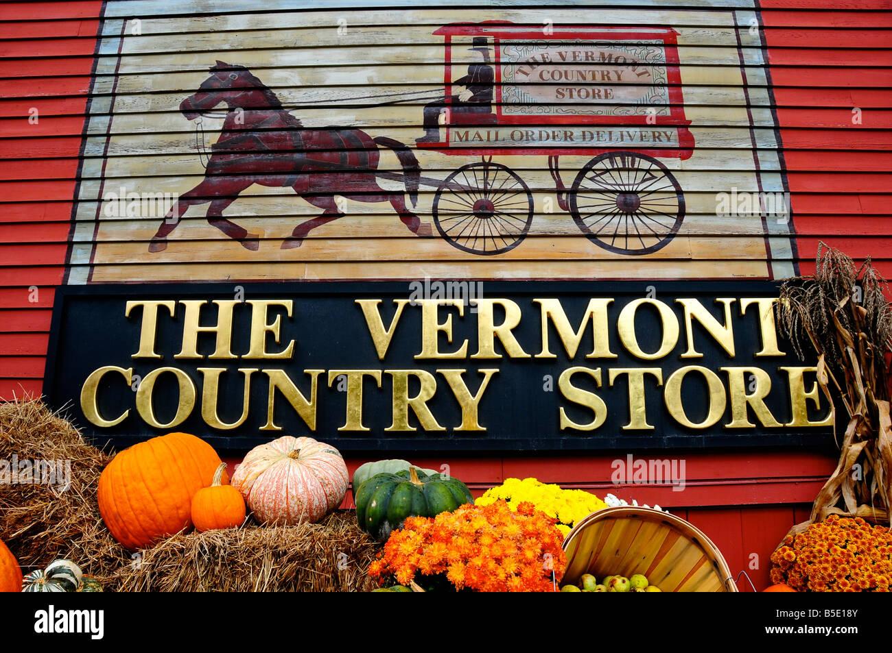 El Vermont Country Store, Weston, Vermont, EE.UU. Foto de stock