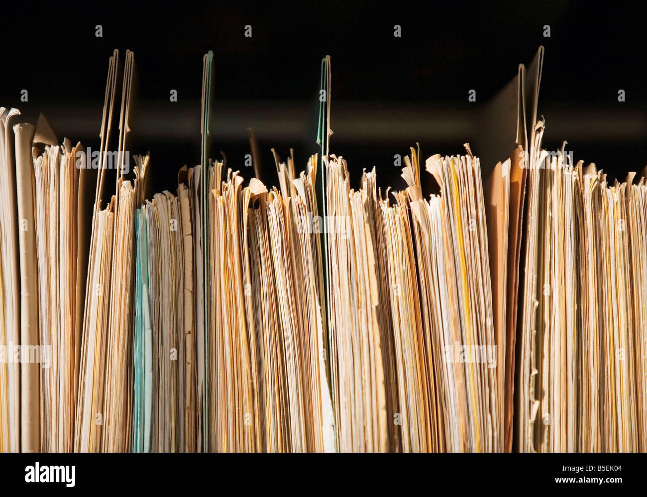 Colgar archivos Imagen De Stock