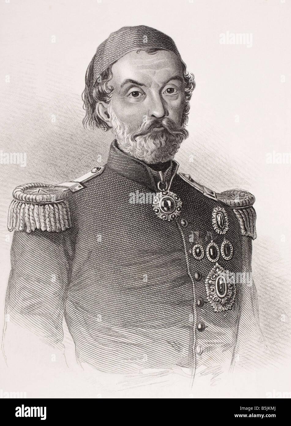 Omar Pasha Latas 1806 1871 General Otomano Foto de stock