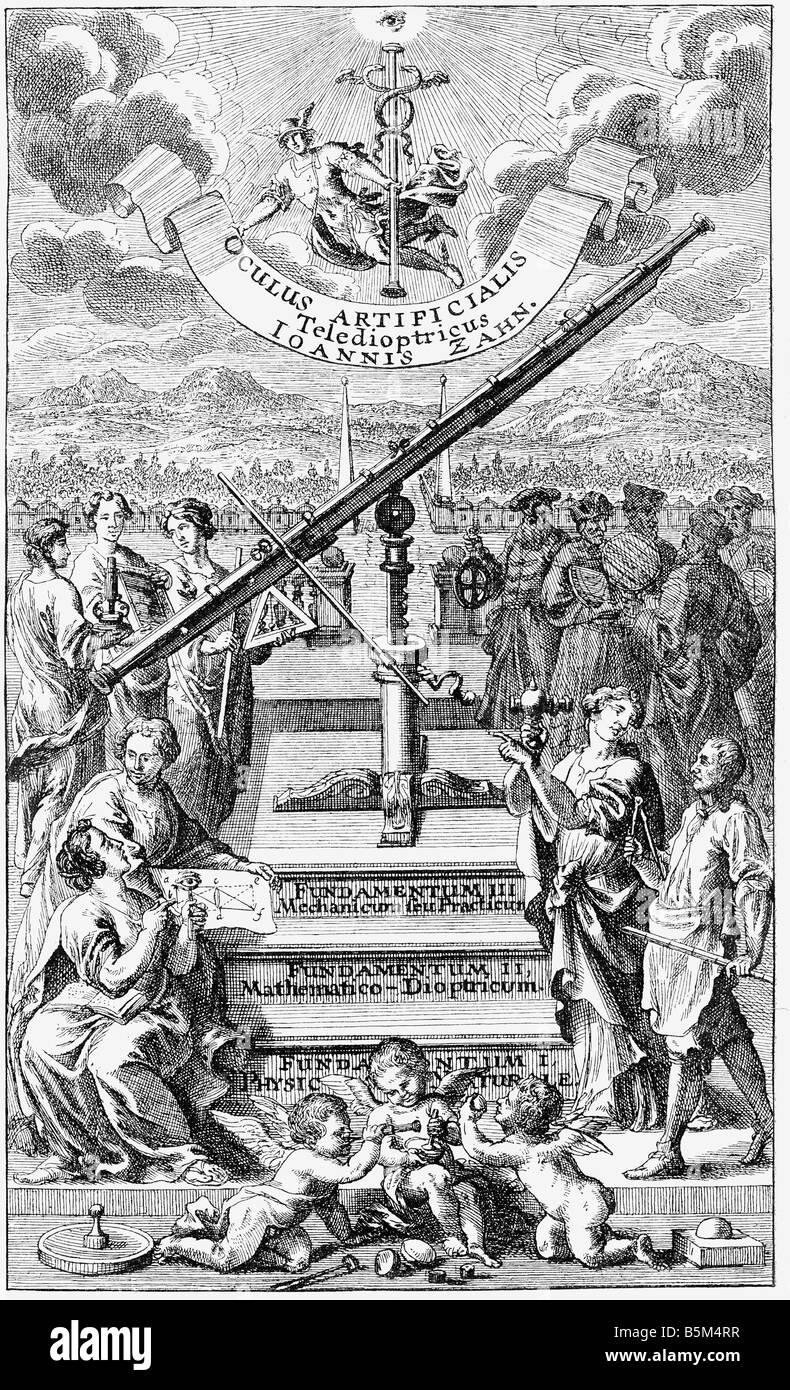 Zahn, Johann, 29.3.1641 - 27.6.1707, alemán griglyman y autor / escritor, obras, 'Oculus artificialis teledioptricus...' Foto de stock