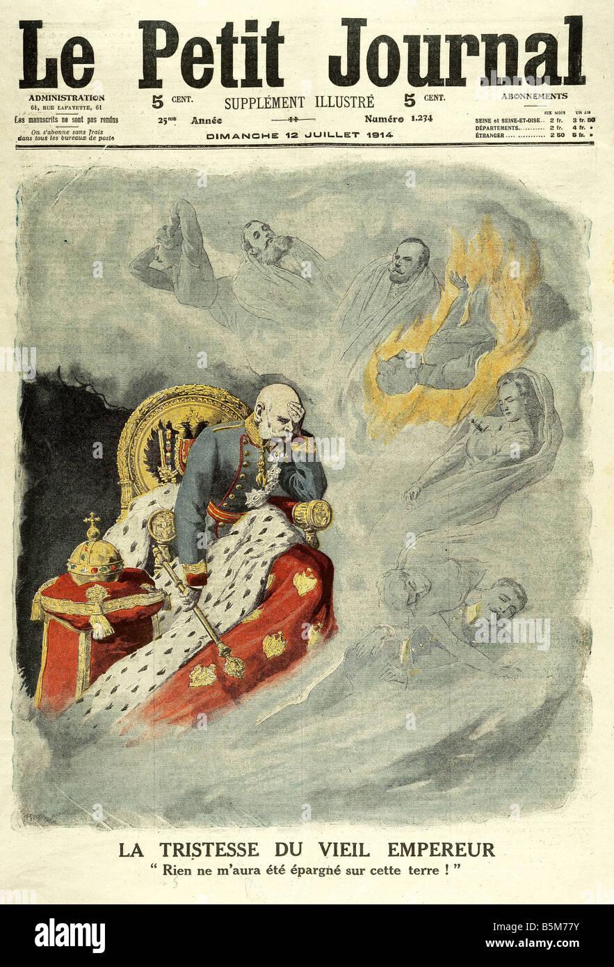 1F25 G1914 E Emperador Franz Joseph de impresión en color de 1914 Franz Joseph I Emperador de Austria 1848 Imagen De Stock