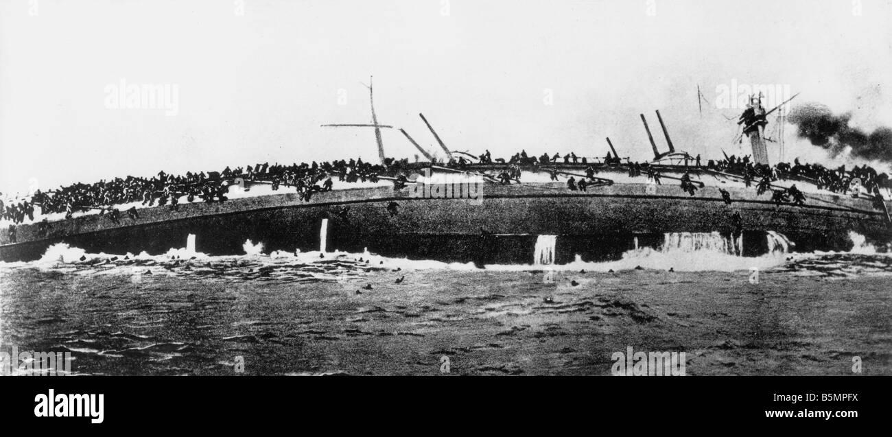 9 1915 1 24 A1 1 E batalla Helgoland Bluecher Nav 1915 sumideros de la I Guerra Mundial 1914 18 Guerra en el mar Imagen De Stock