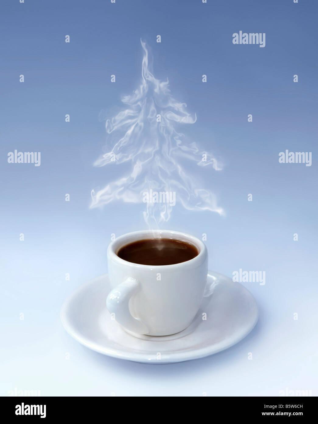 Taza de café de Navidad Imagen De Stock