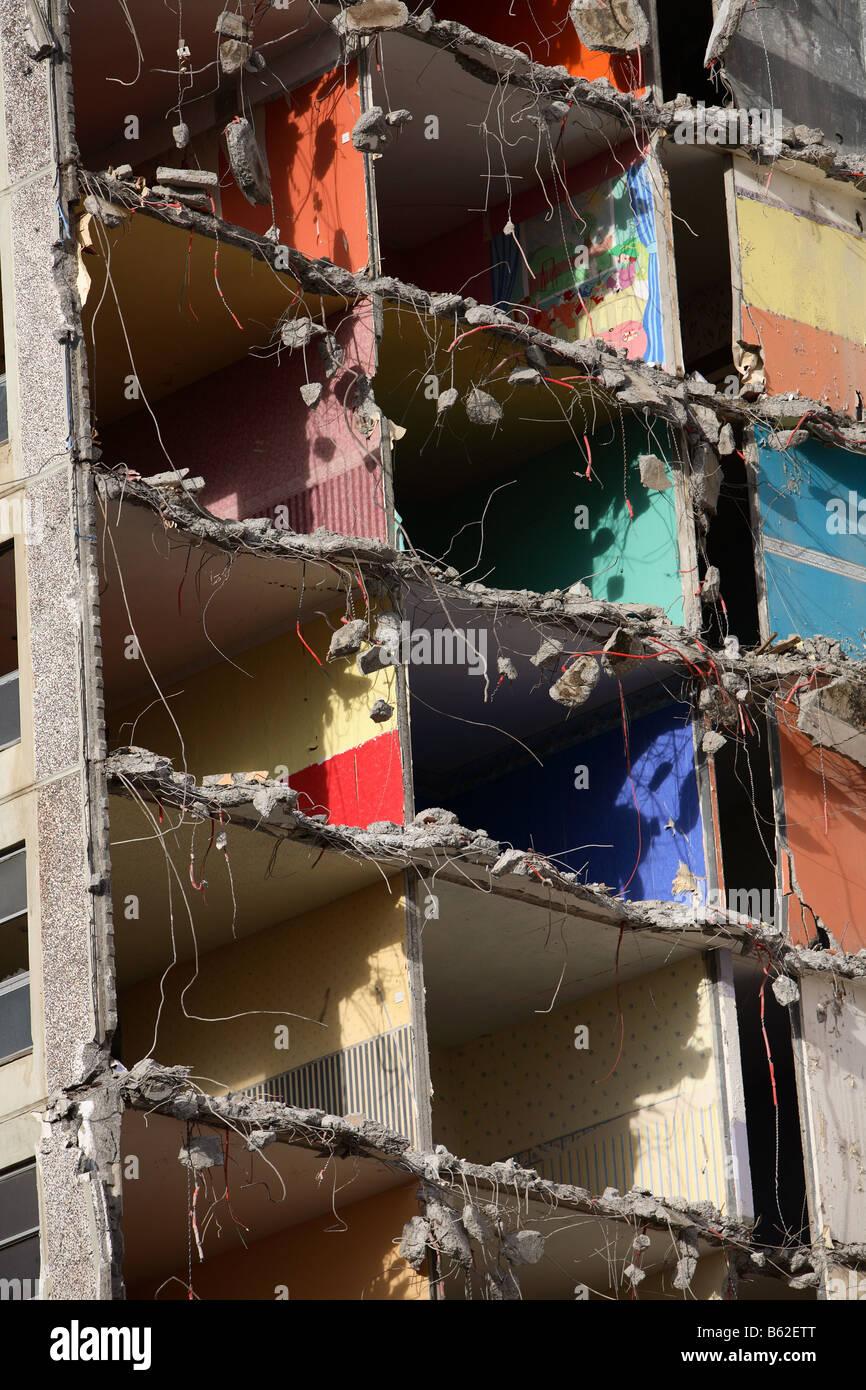 Ballymun Torre, Dublín, Irlanda, en el supuesto de demolición Foto de stock