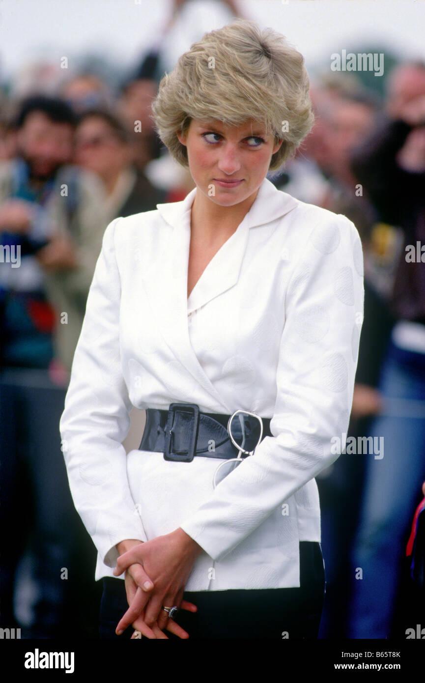 La Princesa Diana en guardias Polo Club Windsor UK Imagen De Stock