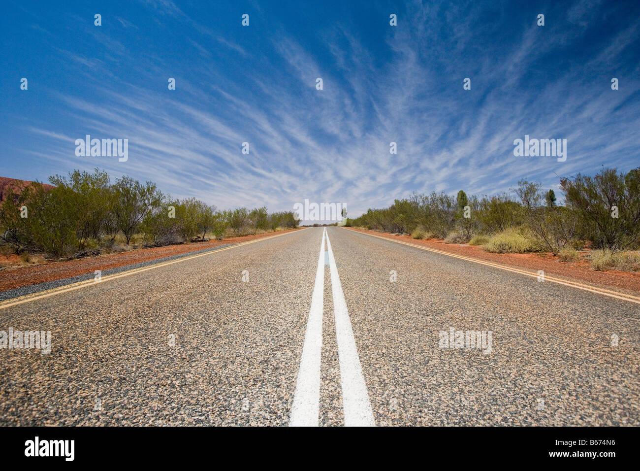 Un país por carretera en Perth. Imagen De Stock