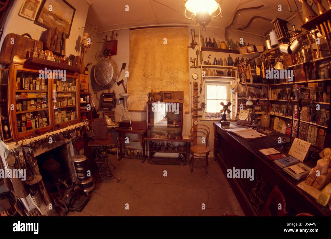 Tienda de réplicas en museo, Morgan, Sth Australia Imagen De Stock