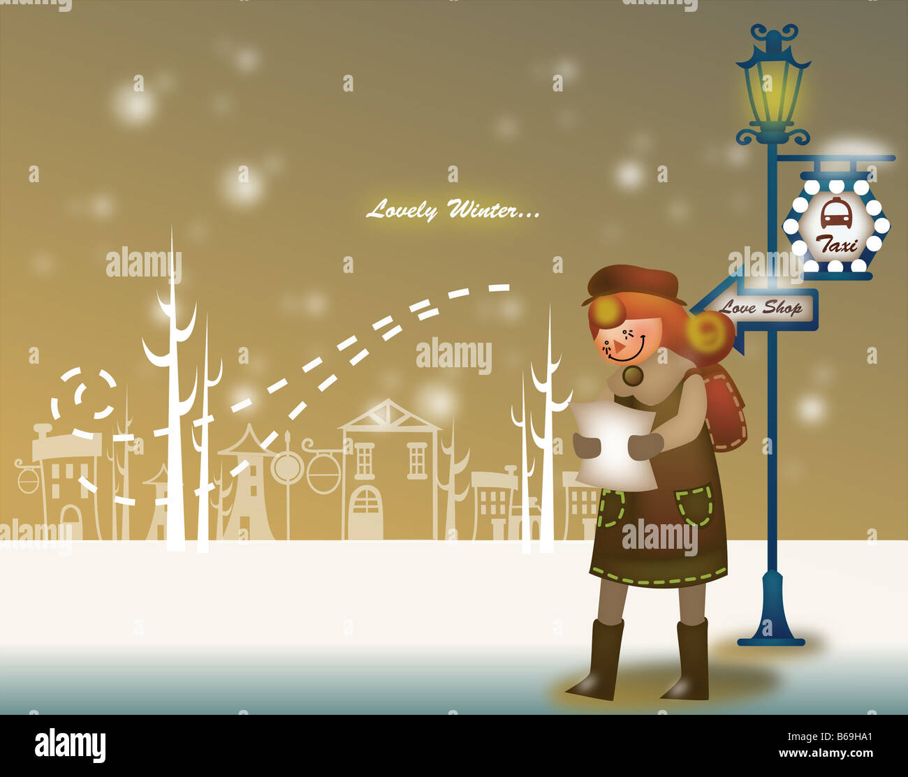 Paisaje de invierno Imagen De Stock