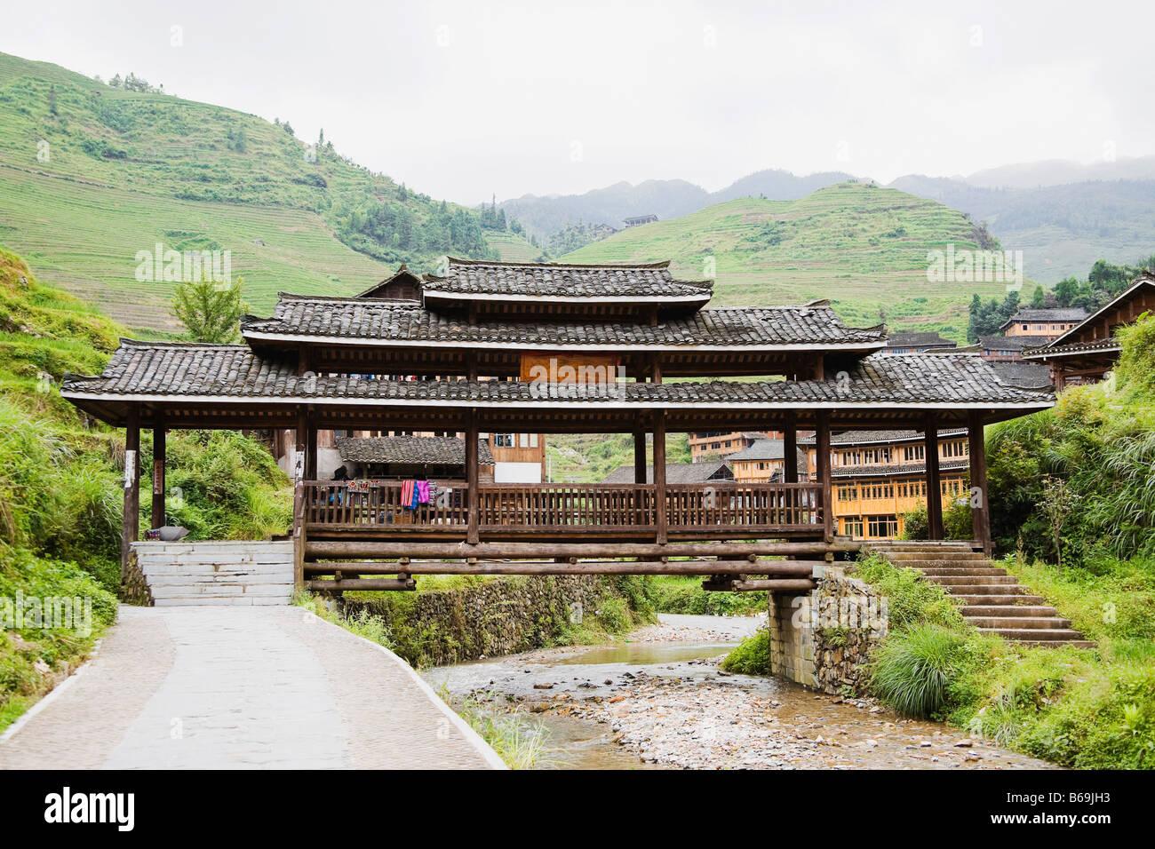 Casas En Una Aldea Terrazas Jinkeng Campo Provincia De