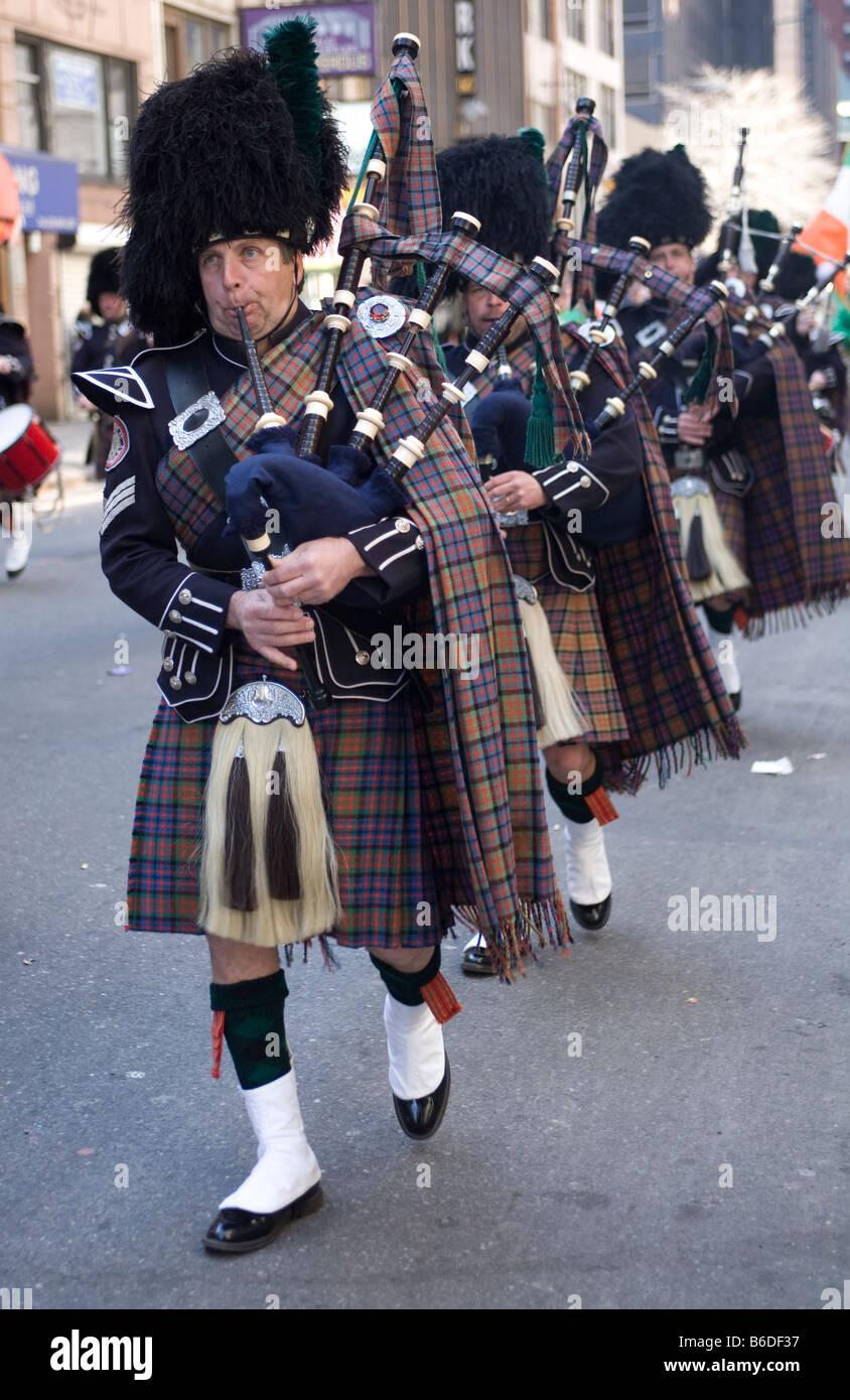 Desfile del Día de San Patricio de la ciudad de Nueva York Foto de stock