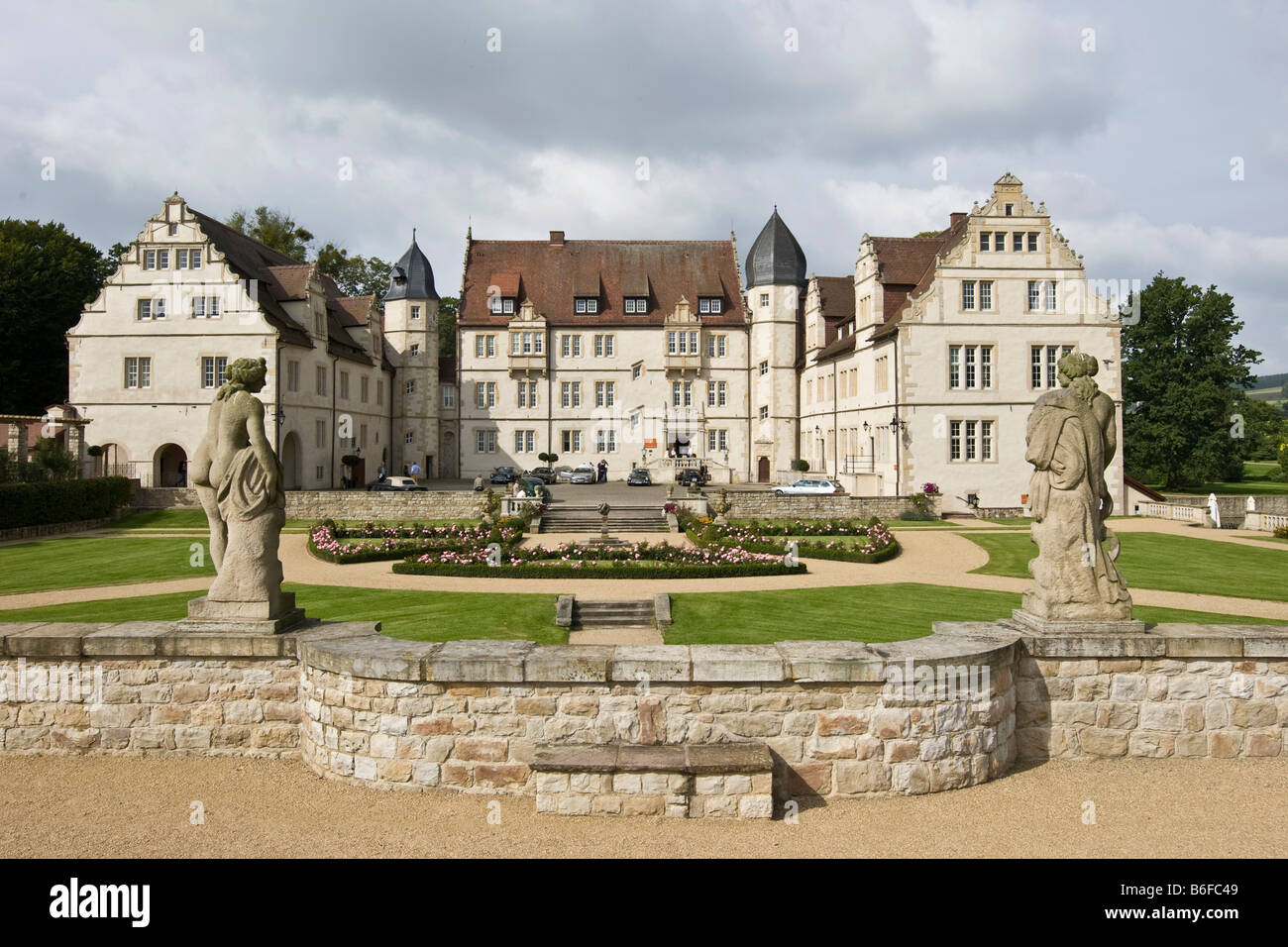 Muenchhausen Palace Hotel, Baja Sajonia, Alemania, Europa Foto de stock