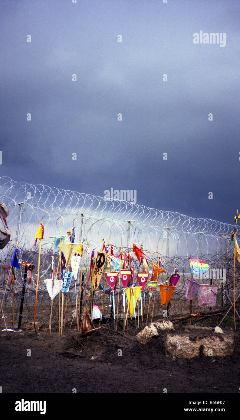 Greenham Common protesta Imagen De Stock