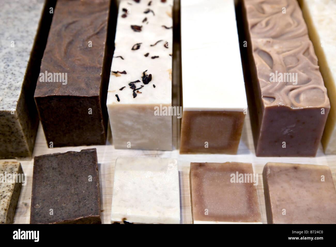 Piezas de jabón perfumado Imagen De Stock