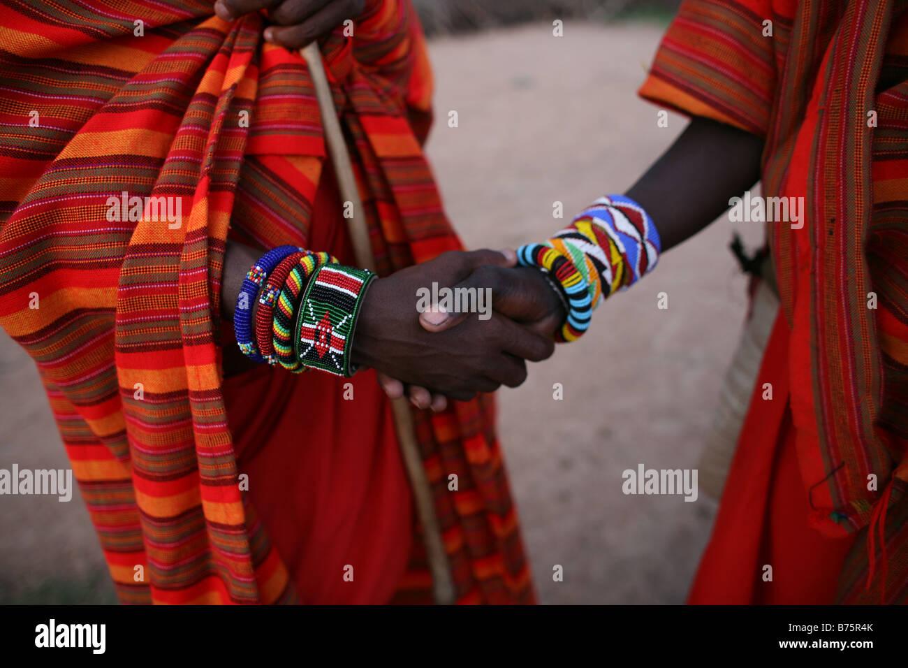 Ngoiroro es una aldea de 200 habitantes, todos pertenecientes a la tribu Massai el pueblo sienta justo en el valle Imagen De Stock