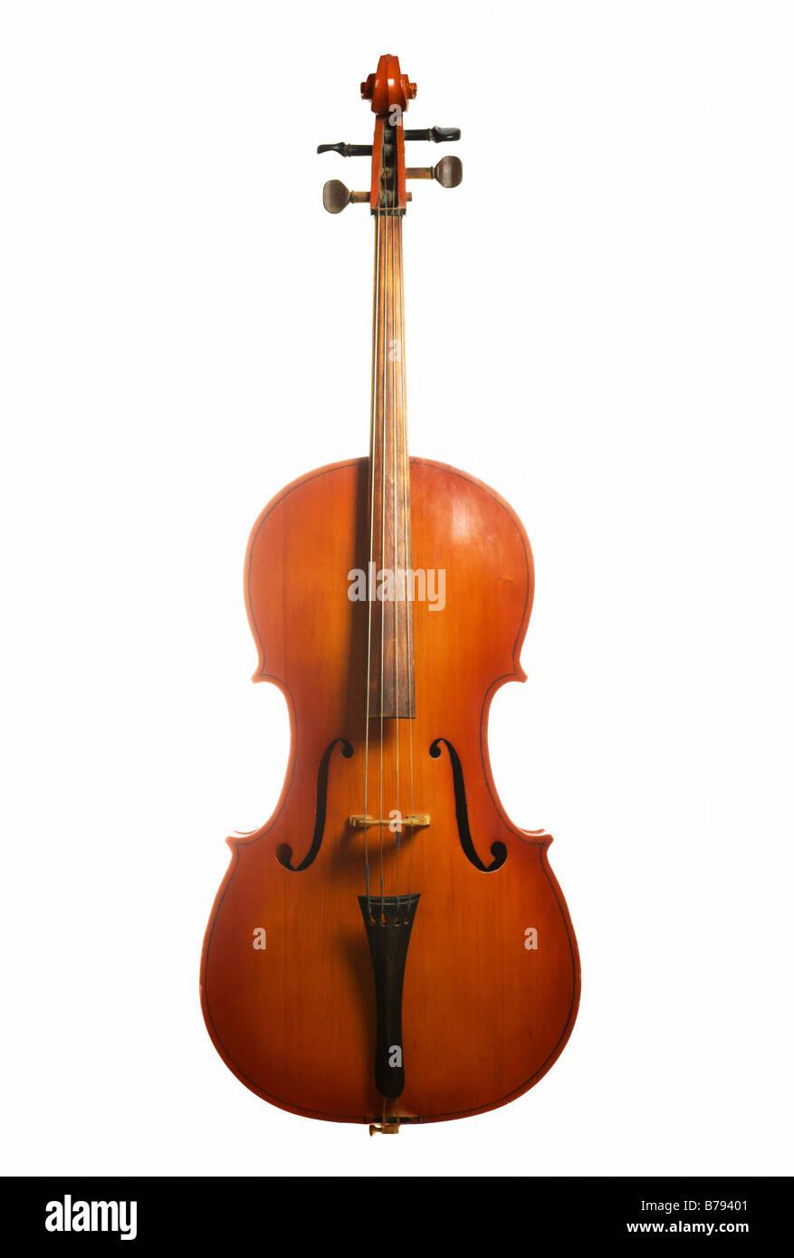 Instrumento Musical Cello Aislado Sobre Fondo Blanco Foto