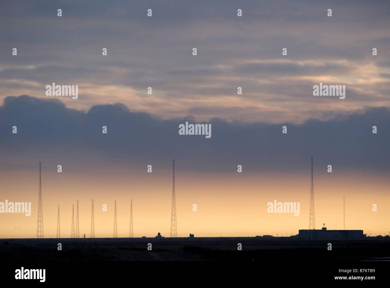 """Ex """"Guerra Fría"""" cobra la estación de radar de la niebla y el Servicio Mundial de la BBC, radio Imagen De Stock"""