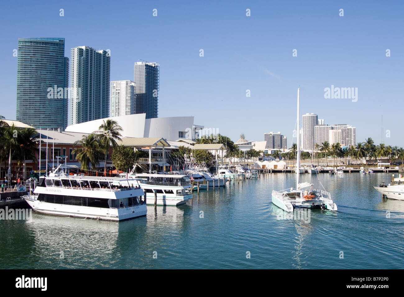 Downtown Miami Bayside Marketplace Imagen De Stock