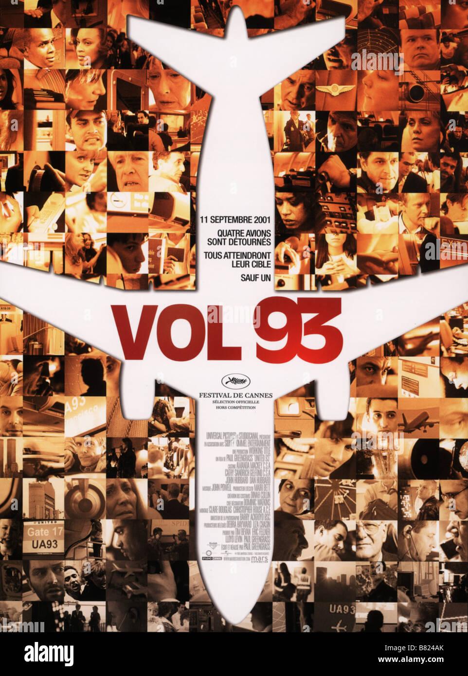 Vol 93 Naciones 93 Año: 2006 - Francia / REINO UNIDO / ESTADOS UNIDOS / Poster Affiche Director: Paul Greengrass Foto de stock