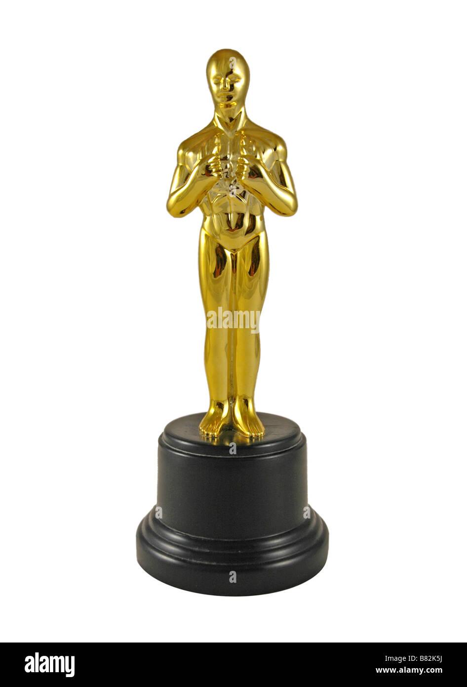Réplica de una estatua de Oscar. Imagen De Stock