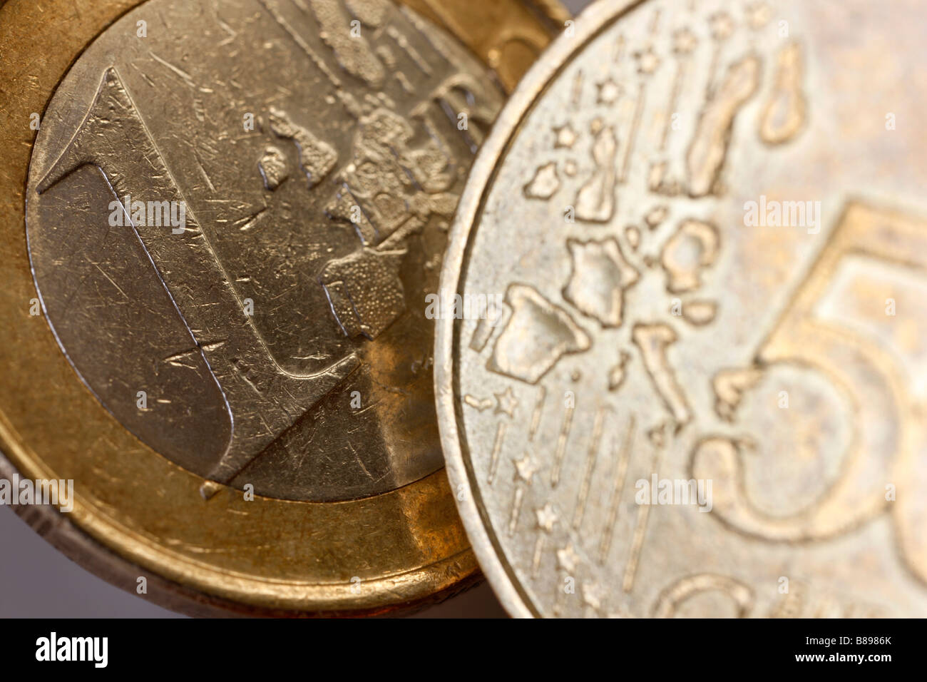 Monedas de euro Foto de stock
