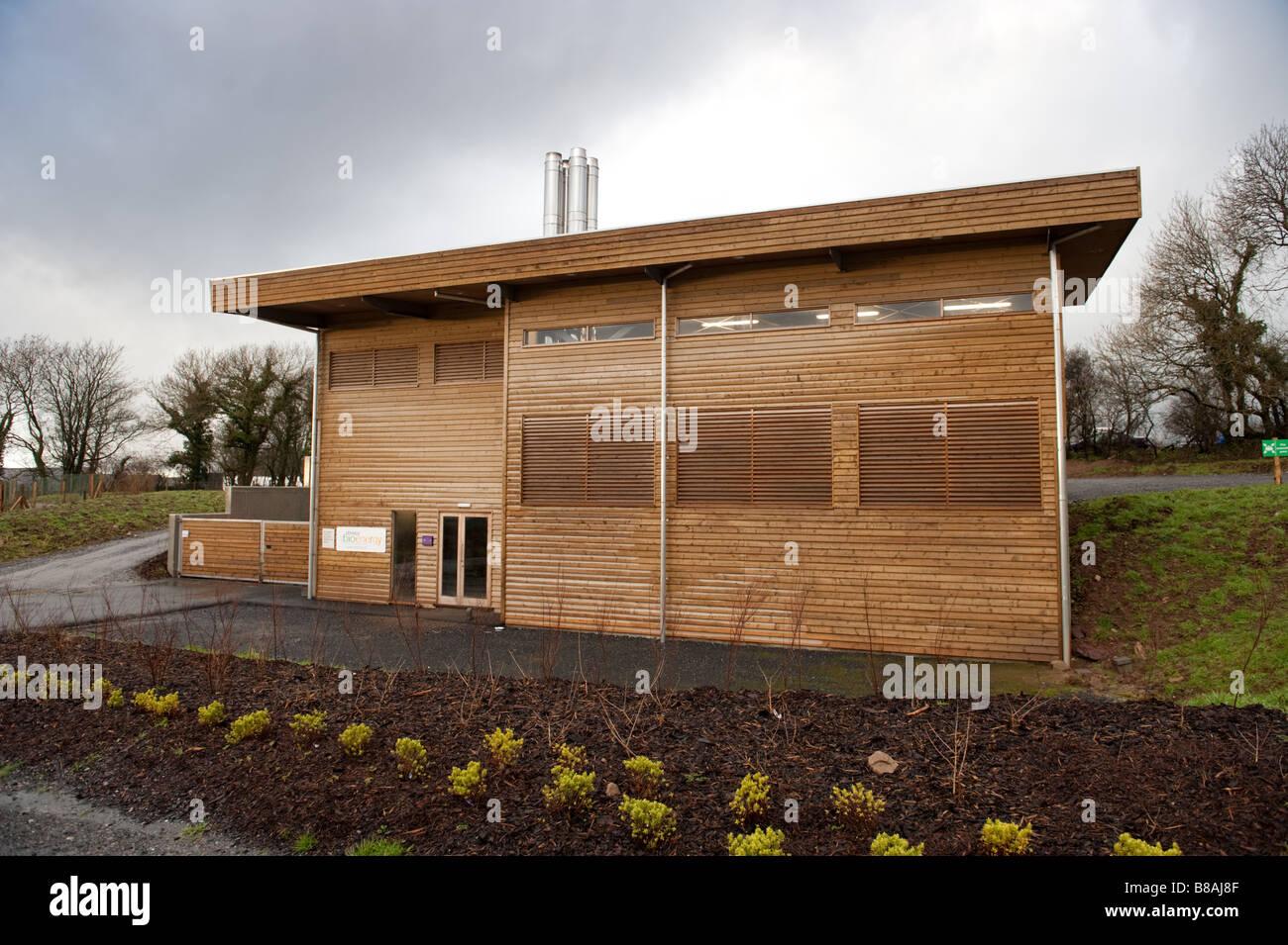 La bio-energía de calefacción en la planta de Bluestone parque de vacaciones Gales pembrokeshire UK Imagen De Stock