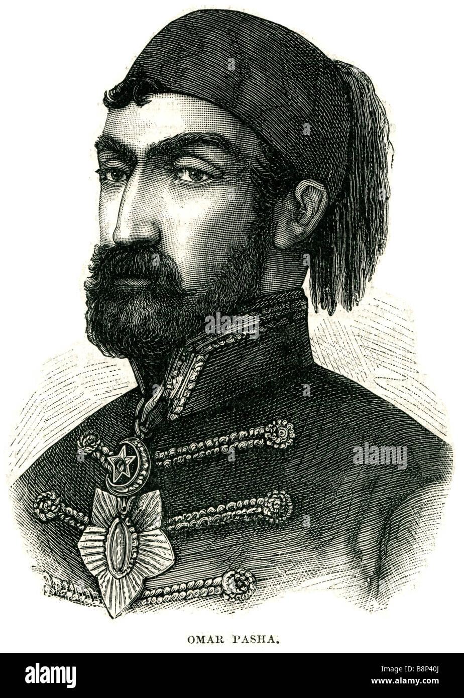 Omar Pasha Latas 1806 71 General Otomano Kraina Serbia Serbia Janja Gora Foto de stock