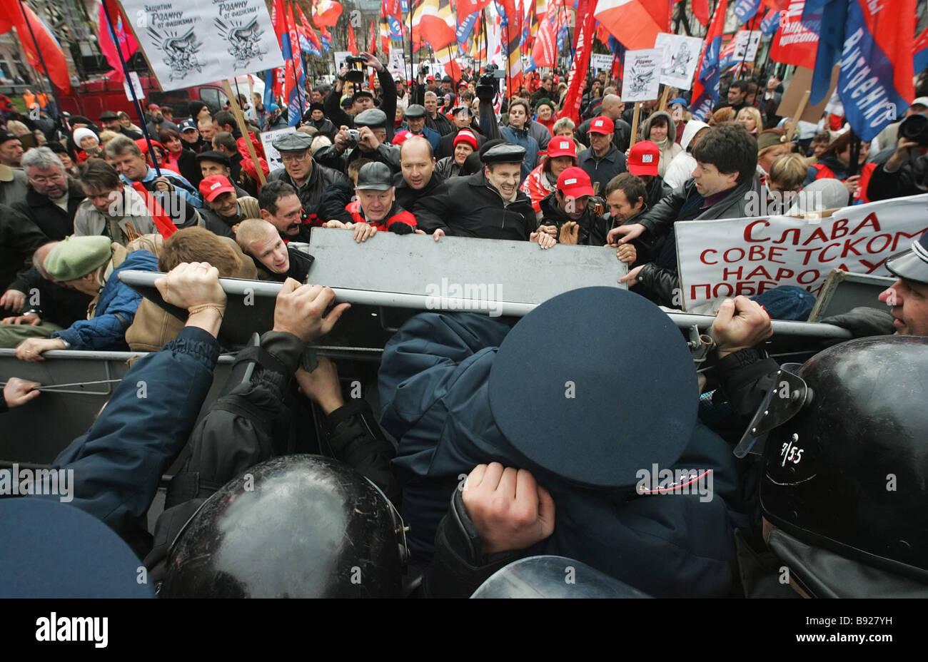 Un pie de marzo para reconocer a los soldados del Ejército Rebelde ucraniano UPA como miembros del movimiento de Foto de stock