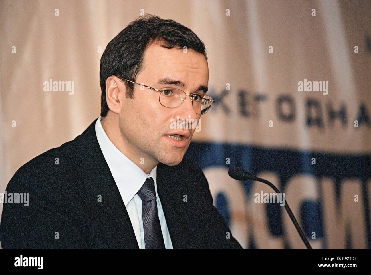 Presidente de la Asociación de Gestores de ruso Dmitry Zelenin Imagen De Stock