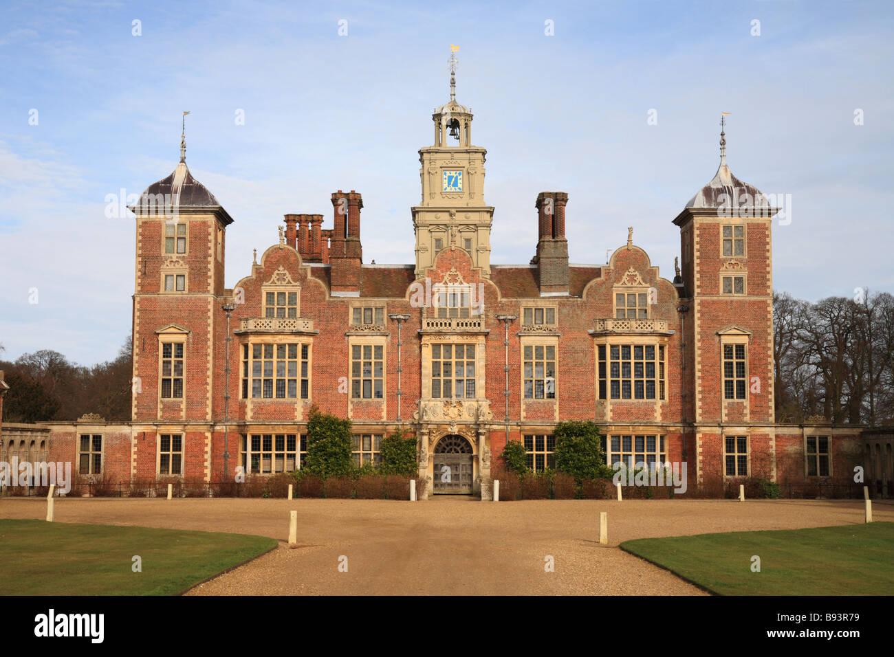 """""""Blickling Hall' National Trust propiedad de North Norfolk. casa, jardines y parque. Inglaterra. Imagen De Stock"""
