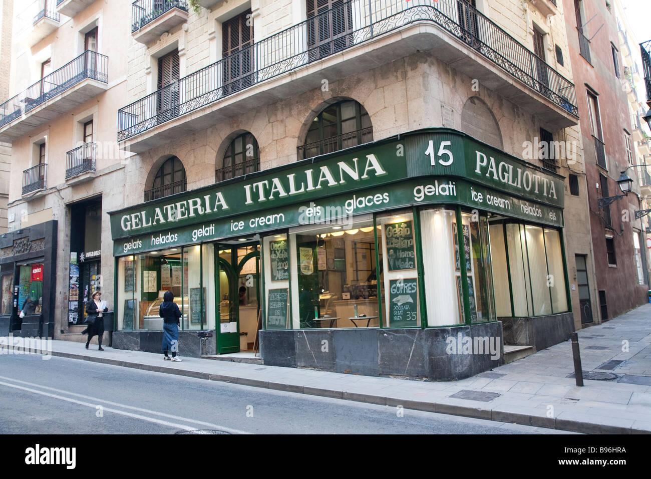 La Gelateria Italiana, Barcelona España Imagen De Stock