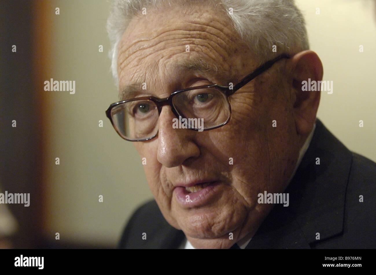 Una vez que Henry Kissinger U S Secretario de Estado Imagen De Stock