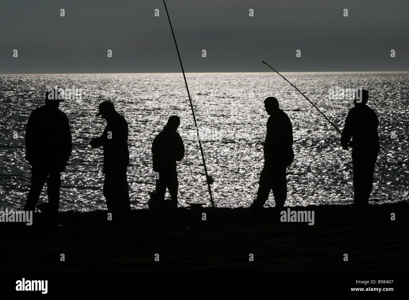 Pesca nocturna en el Caspio Derbent Imagen De Stock