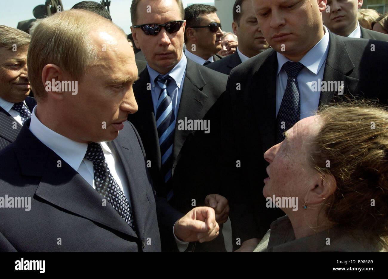 Un viaje de trabajo del Presidente de la Federación de Rusia Vladimir Putin a la Región de Cheliabinsk Imagen De Stock