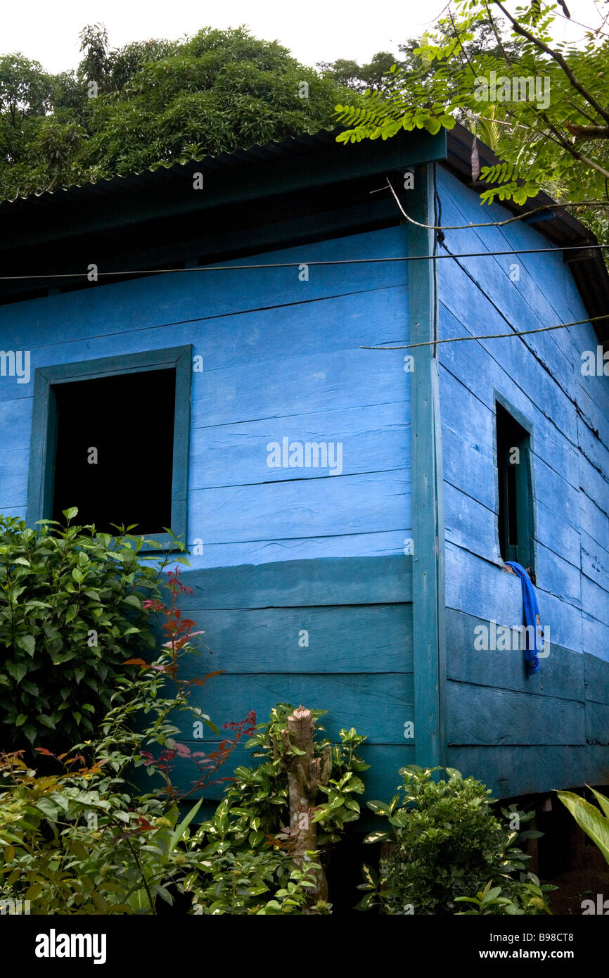 Una casa en El Castillo, Nicaragua. Foto de stock