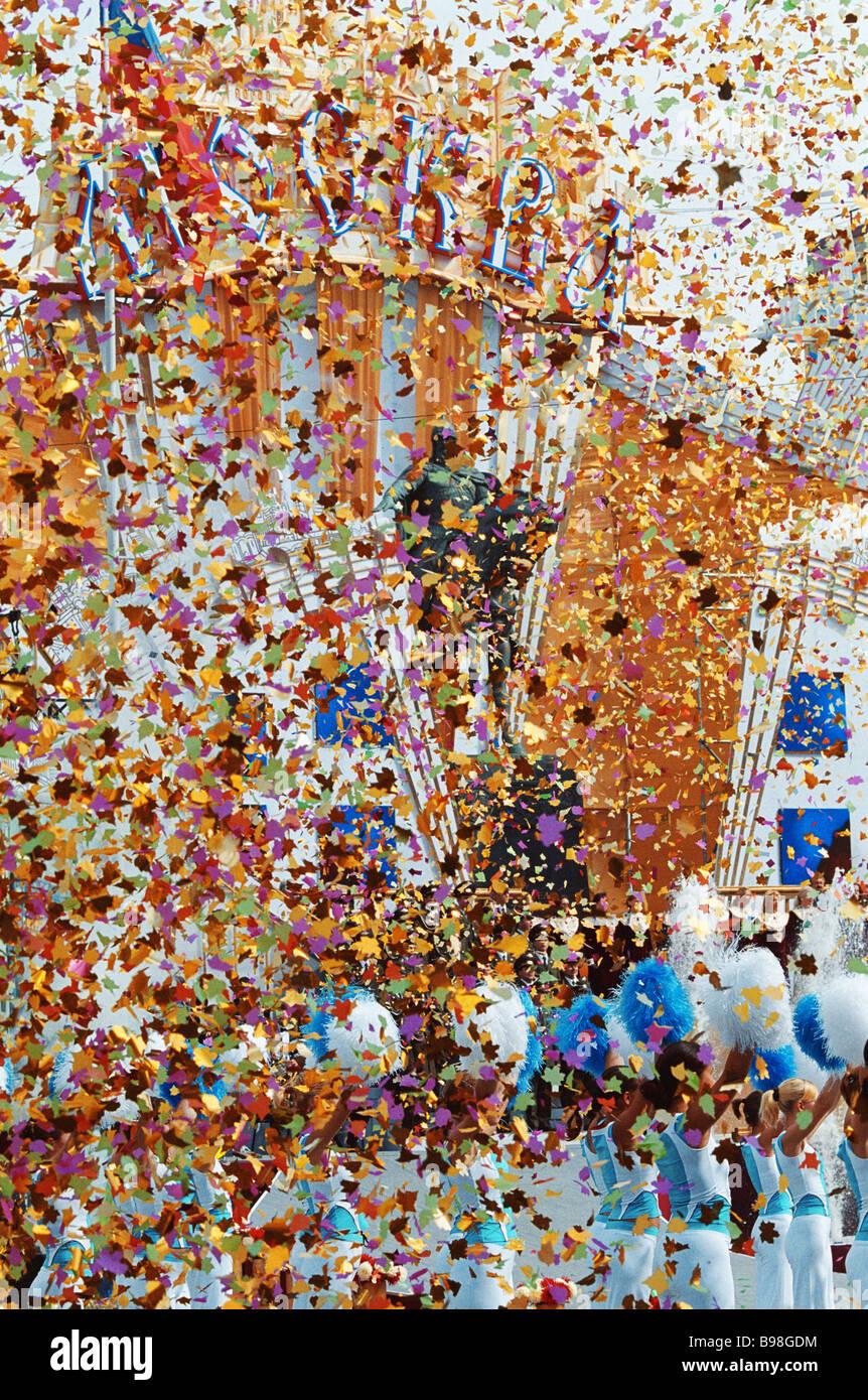 Las festividades del Día de la ciudad de Moscú Foto de stock