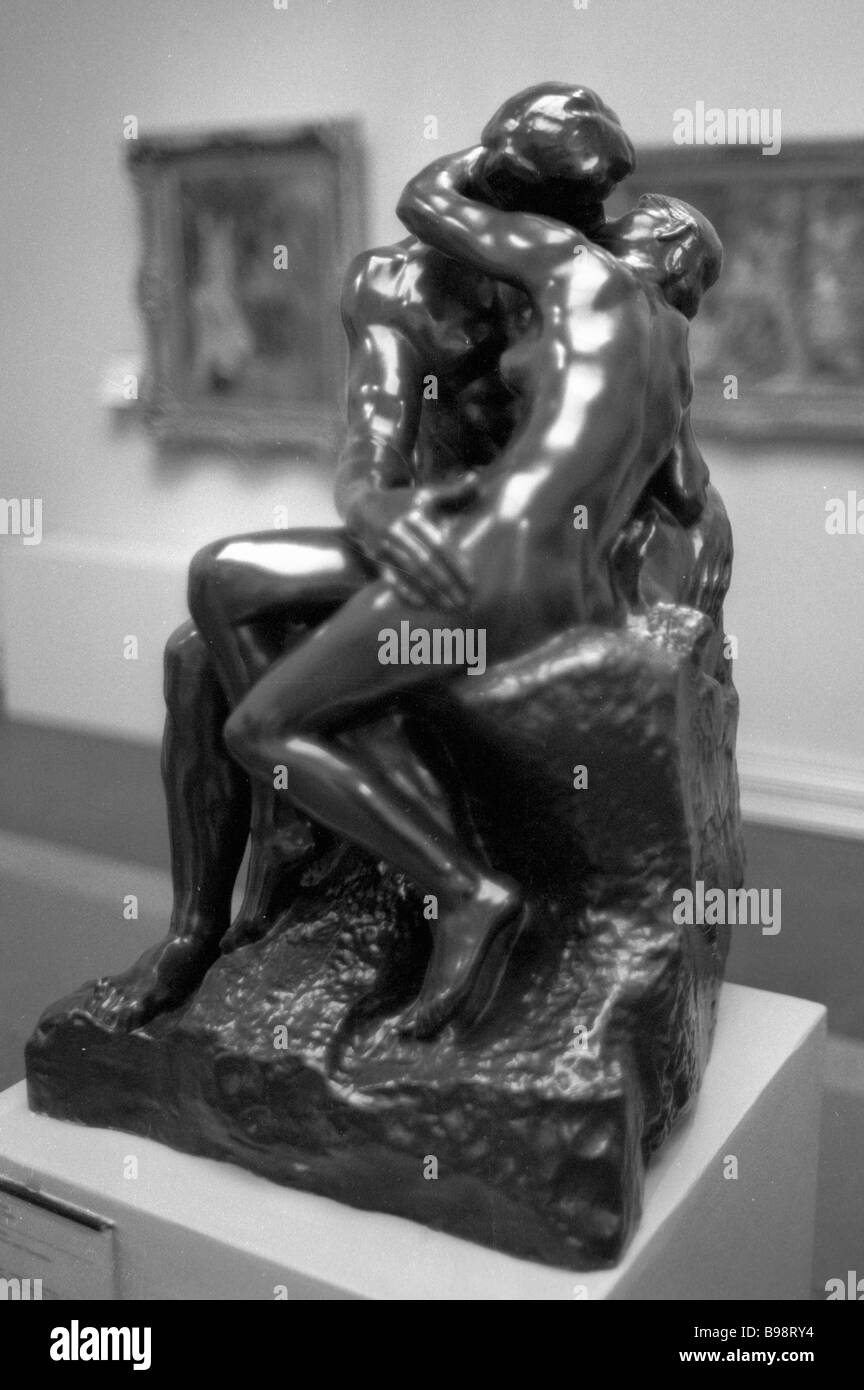 Auguste Rodin S Escultura El Beso 1886 En El Museo De Bellas Artes