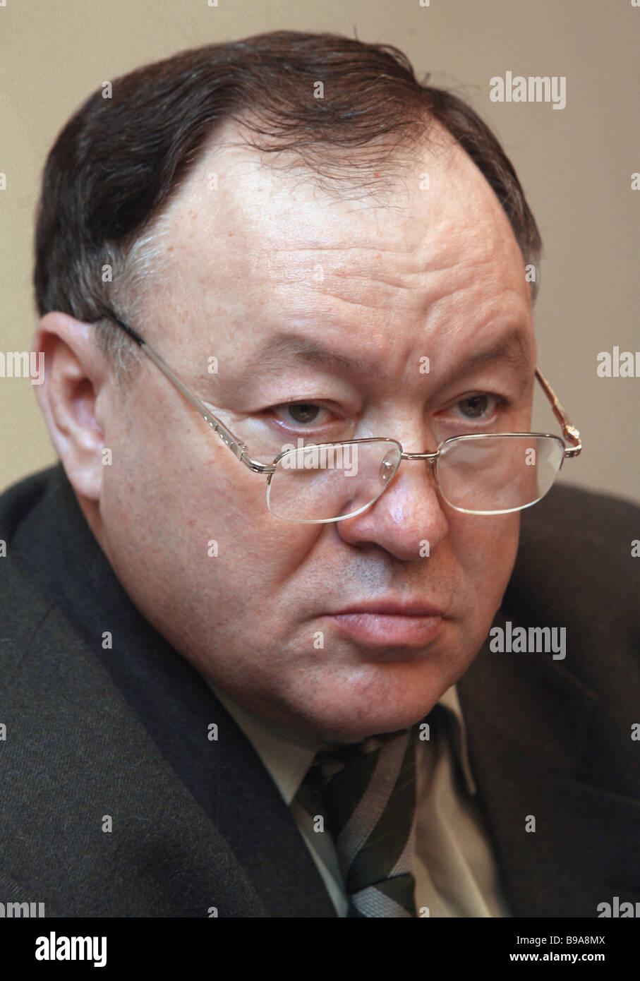 Alexander Oskin Impreso, Presidente de la junta de la Asociación de Distribuidores Foto de stock