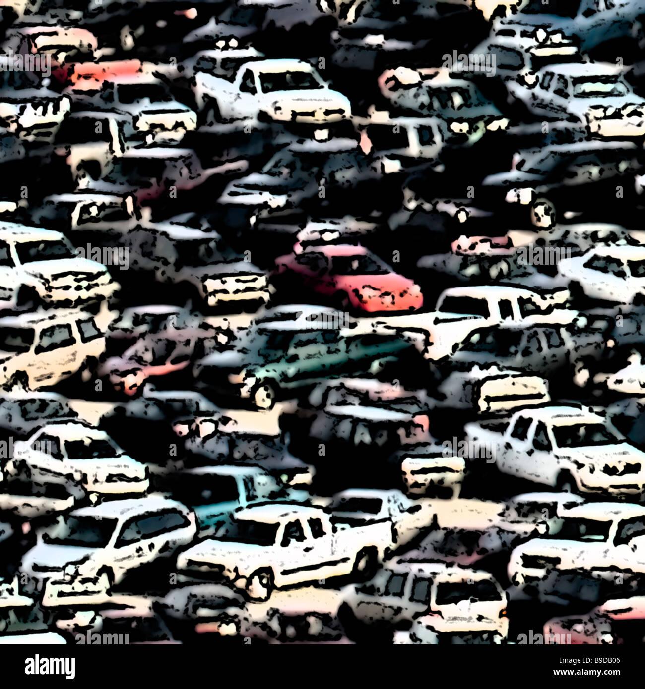 Alquiler de automóvil art Imagen De Stock