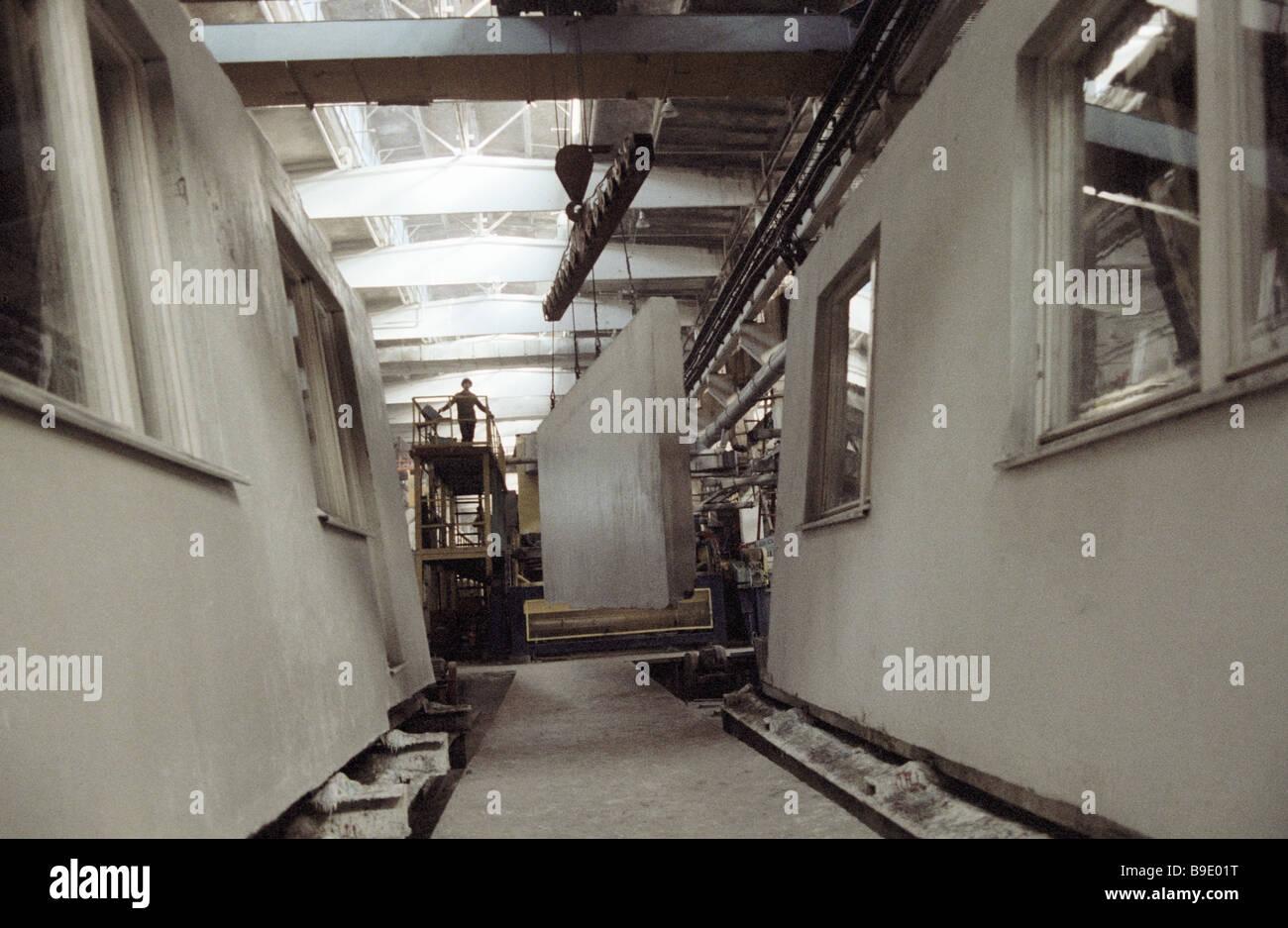 Paneles utilizados para el montaje de la construcción de canales Imagen De Stock