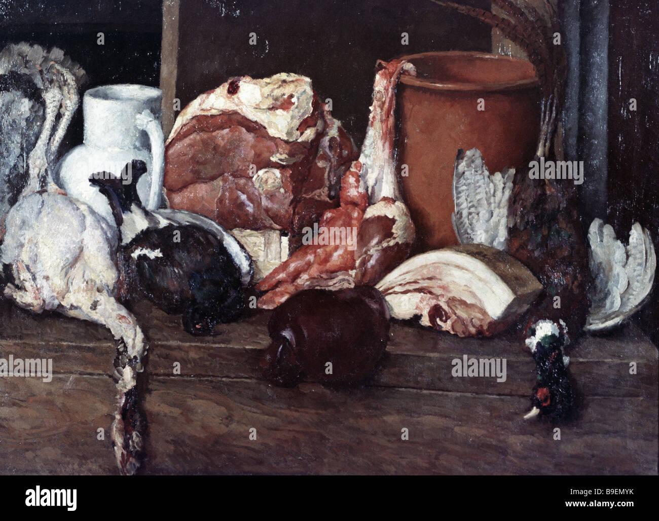Piotr Konchalovski un bodegón con madera estado Grouse Galería Tretyakov en Moscú Imagen De Stock