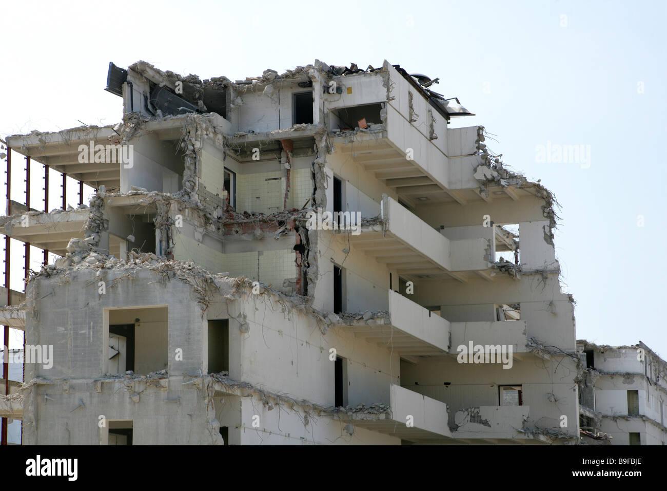 Alemania Baviera Munich resumen antigua residencia casa de demolición demolición rasgado resumen antiguo Imagen De Stock