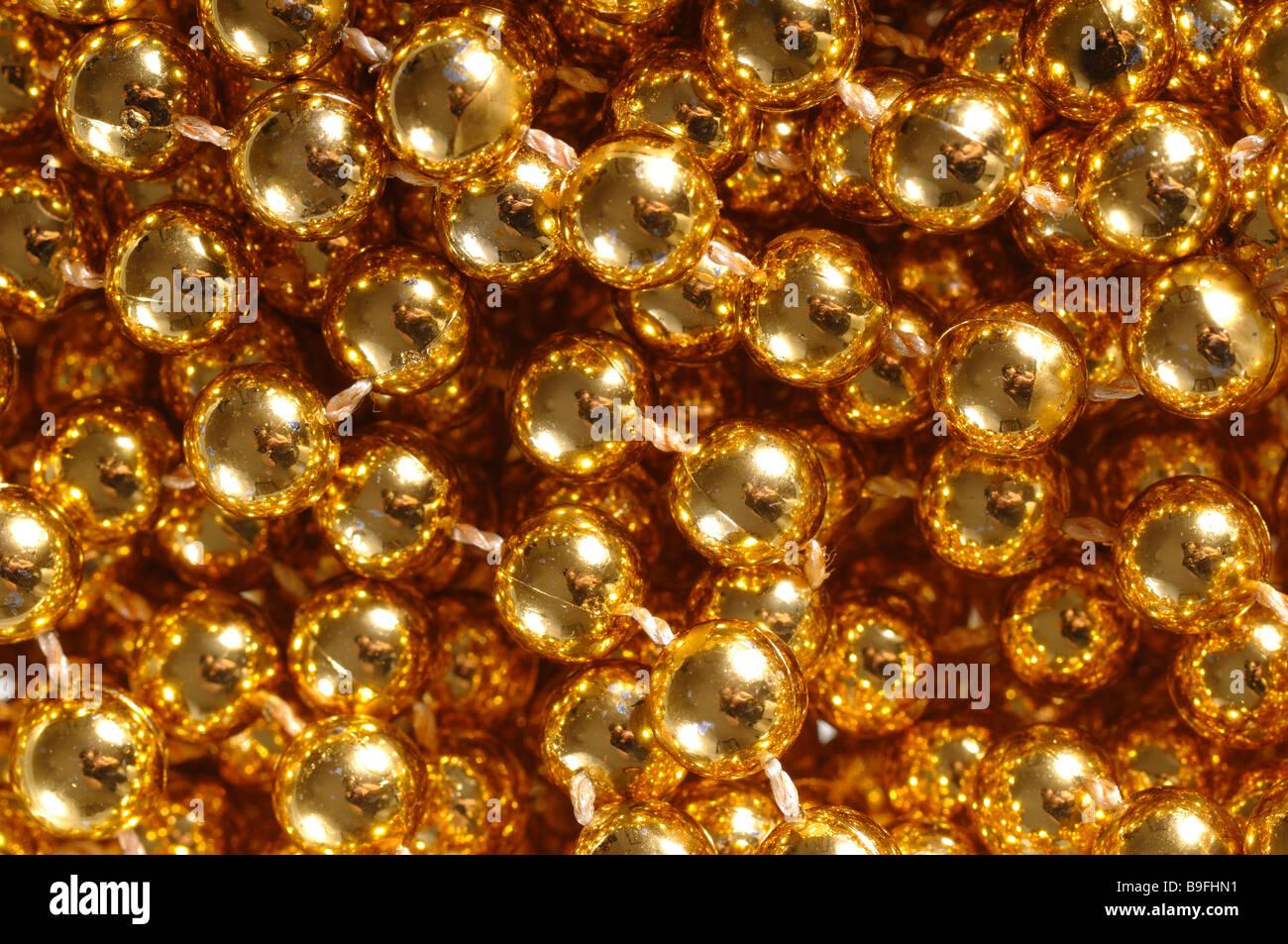 Primer plano de un bolas de oro Foto de stock