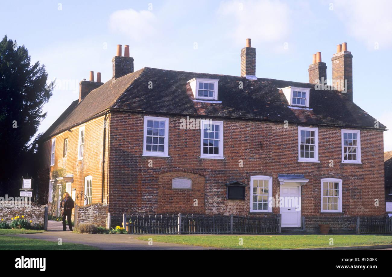 La casa de Jane Austen Chawton Hampshire Inglaterra casa museo del siglo XIX, el escritor inglés novelista Imagen De Stock