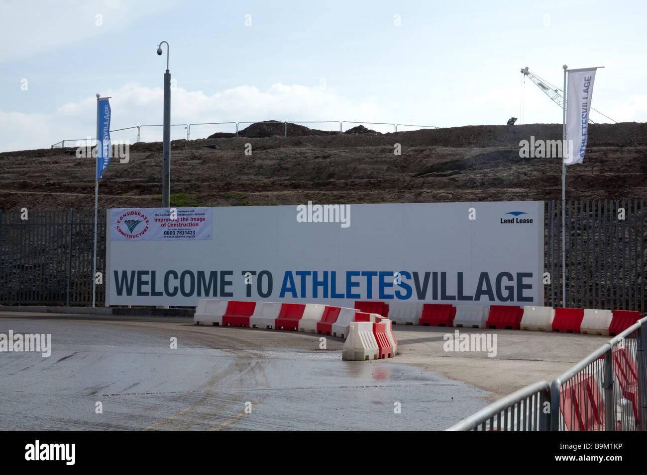 La Aldea de Atletas para los Juegos Olímpicos de Londres 2112 en construcción de marzo de 2009 Foto de stock