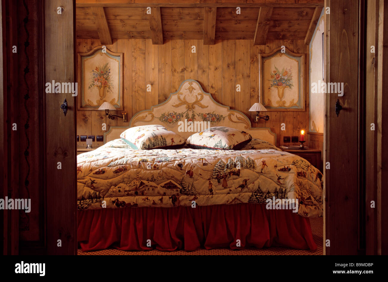 Francia, Savoie, Courchevel, Hotel de lujo de 4 estrellas, Les Airelles Foto de stock