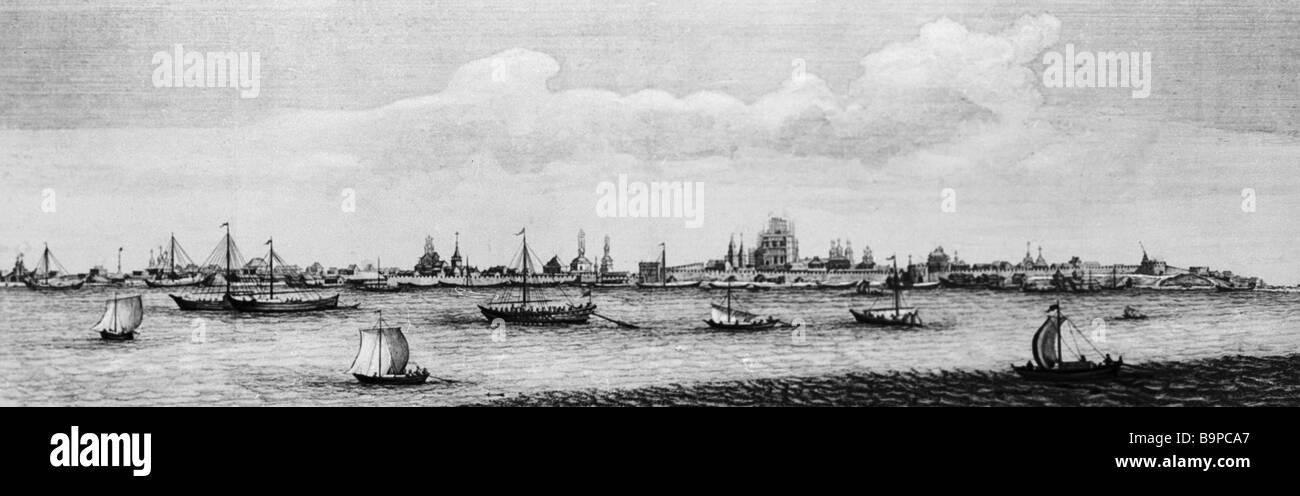 Astracán imprimir 1714 Reproducción Imagen De Stock